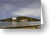 Islands Digital Art Greeting Cards - Burgh Island Devon Greeting Card by Donald Davis
