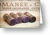 Still Life Greeting Cards - Burgundy Wine Corks Greeting Card by Frank Tschakert