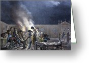 Burials Greeting Cards - Burial Of Cholera Victims, Artwork Greeting Card by Cci Archives
