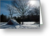 Wayside Greeting Cards - Buried in Snow Greeting Card by Frank Garciarubio