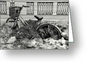 Snow Scenes Greeting Cards - Buried in the Snow Greeting Card by Dean Harte
