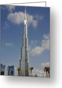 Stock Photography Greeting Cards - Burj Khalifa 2 Greeting Card by Graham Taylor