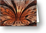Geometric Framed Prints Greeting Cards - Burled Wood Greeting Card by Ricky Jarnagin