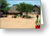 Burma Greeting Cards - Burma small village Greeting Card by RicardMN Photography