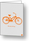 Bike Rider Greeting Cards - Burn Fat not Fuel Greeting Card by Irina  March