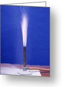Ignite Greeting Cards - Burning Aluminium Greeting Card by Andrew Lambert Photography