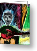 Person Pastels Greeting Cards - Burning Desire Greeting Card by Levi Glassrock 