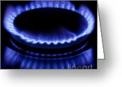 Heater Greeting Cards - Burning gas Greeting Card by Fabrizio Troiani