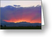 The Lightning Man Greeting Cards - Burning Rays of Sunset Greeting Card by James Bo Insogna