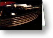 Vinyl Greeting Cards - Burning Vinyl  Greeting Card by Steven  Digman
