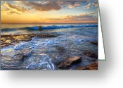 Tourist Pyrography Greeting Cards - Burns Beach WA Greeting Card by Imagevixen Photography