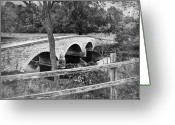 Antietam Greeting Cards - Burnside Bridge 2 Greeting Card by Mick Burkey