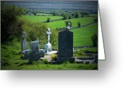 Ireland Greeting Cards - Burren Crosses County Clare Ireland Greeting Card by Teresa Mucha