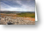 Kinvarra Greeting Cards - Burren landscape View Greeting Card by John Quinn