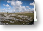 Perfumery Greeting Cards - Burren Skies Greeting Card by Rob Hemphill