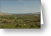 County Clare Greeting Cards - Burren View Panorama County Clare Ireland Greeting Card by Teresa Mucha