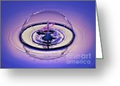 Puddle Photo Greeting Cards - Bursting my Bubble Greeting Card by Susan Candelario