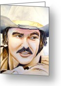 Burt Reynolds Greeting Cards - Burt Reynolds Greeting Card by Brian Degnon