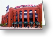 St.louis Cardinals Greeting Cards - Busch Stadium 2011-1 Greeting Card by Kathleen Hinson