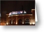 Cardinals World Series Greeting Cards - Busch Stadium Greeting Card by Melissa Goodrich