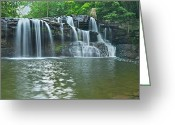 Swimming Hole Greeting Cards - Bush Creek Panorama1 Greeting Card by Michael Peychich