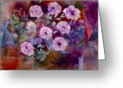 Oyster Mixed Media Greeting Cards - Bush Morning Glory Greeting Card by Don  Wright