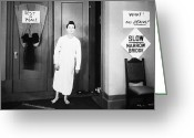 Nightgown Greeting Cards - Buster Keaton (1895-1966) Greeting Card by Granger