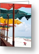Beach Photo Greeting Cards - Busy Beach Greeting Card by James Granberry