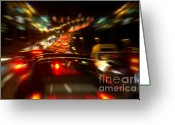Busy City Greeting Cards - Busy Highway Greeting Card by Carlos Caetano