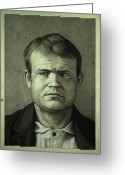 Outlaw Greeting Cards - Butch Cassidy Greeting Card by James W Johnson
