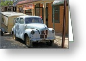 Chev Pickup Greeting Cards - Butcher Greeting Card by James Mcinnes