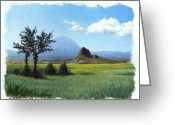 Spanish Peaks Greeting Cards - Butte and Peak Greeting Card by Paul Hoffman