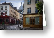 Architecture Greeting Cards - Butte de Montmartre Greeting Card by Inge Johnsson