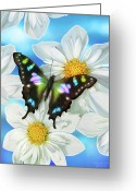 Feminine Greeting Cards - Butterfly 2 Greeting Card by JQ Licensing