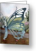 New Britain Painting Greeting Cards - Butterfly Chair Greeting Card by Katherine  Berlin