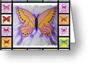 Mark Schutter Greeting Cards - Butterfly Collage Greeting Card by Mark Schutter