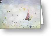 Balloon Fiesta Greeting Cards - Butterfly Dreams Greeting Card by Andrea Hazel Ihlefeld