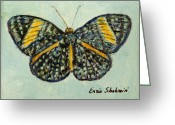 Fine Art - Animals Greeting Cards - Butterfly Greeting Card by Enzie Shahmiri