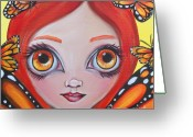 Jaz Greeting Cards - Butterfly Fairy Greeting Card by Jaz Higgins
