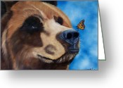 Hunter Greeting Cards - Butterfly Kisses Greeting Card by Debbie LaFrance