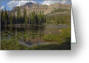 Utah Weather Greeting Cards - Butterfly Lake Uinta Range Utah Greeting Card by Tim Fitzharris