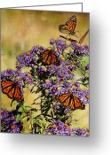 Monarchs Greeting Cards - Butterfly Party Greeting Card by Diane E Berry