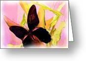Wins Greeting Cards - Butterfly Wins Greeting Card by Nereida Slesarchik Cedeno Wilcoxon
