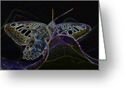 World Series Greeting Cards - Butterfly Work RWS Number 6 Greeting Card by David Lee Thompson