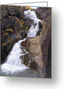 Buttermilk Greeting Cards - Buttermilk Falls Greeting Card by Glen Heberling