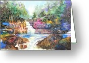 Buttermilk Greeting Cards - Buttermilk Falls III Greeting Card by Patricia Allingham Carlson