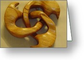 Star Sculpture Greeting Cards - Butternut Star Flame Greeting Card by Russell Ellingsworth
