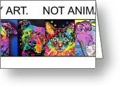 Dogs Painting Greeting Cards - Buy Art Not Animals Greeting Card by Dean Russo
