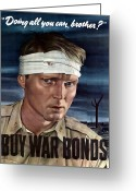 Warishellstore Greeting Cards - Buy War Bonds Greeting Card by War Is Hell Store