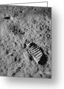 Lunar Photo Greeting Cards - Buzz Aldrins Moon Footprint Greeting Card by Nasa